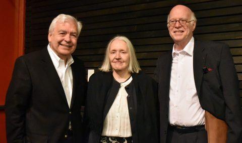 Cátedra Globalización y Democracia ofreció conferencia conjunta de Richard Sennet y Saskia Sassen